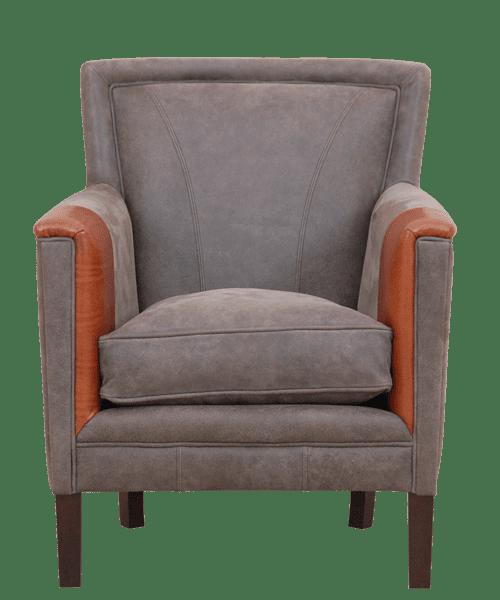 Delta-chesterfield-eigentijds-fauteuil-william-grey-cognac-vooraanzicht