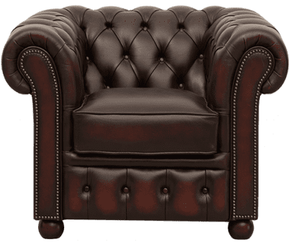 Sandhurst chesterfield stoel in roestbruin