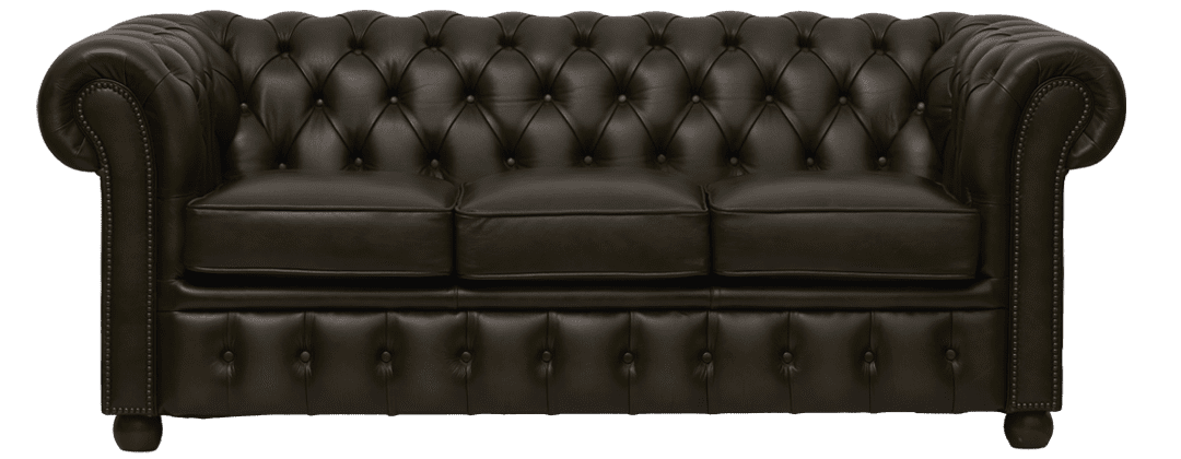 Sandhurst premium driezits chesterfield bank in olijf groen