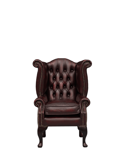 Delta Chesterfield higback scrollwing chair