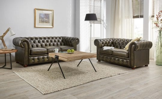 Sandhurst traditionele premium chesterfield als 3zits 2zits set