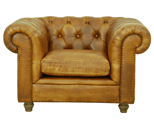 Delta-chesterfield-eigentijds-stoel-Malbeck-cognac-voorzijde