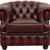 Delta-chesterfield-traditioneel-1zits-Cambridge-stoel-carved-arm-ant-red-30407-27-vooraanzicht