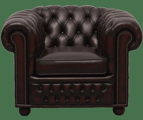 Delta-chesterfield-traditioneel-stoel-1zits-Cambridge-ant-rust-vooraanzicht
