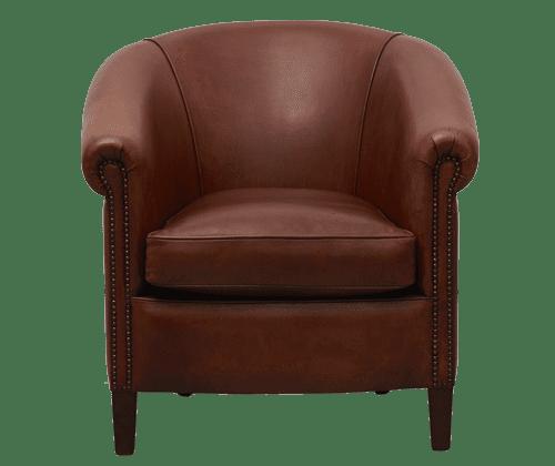 delta-chesterfield-shetland-stoel-schaap-middelbruin-vooraanzicht