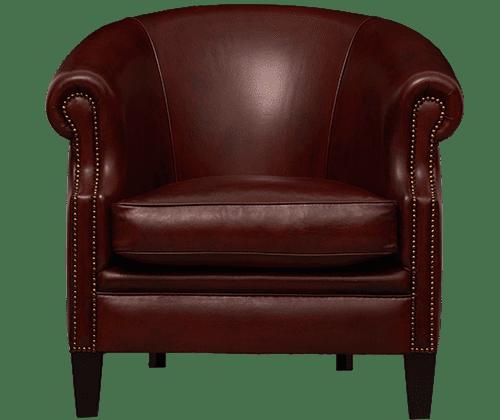 delta-chesterfield-vermeer-stoel-schaap-middelbruin-vooraanzicht