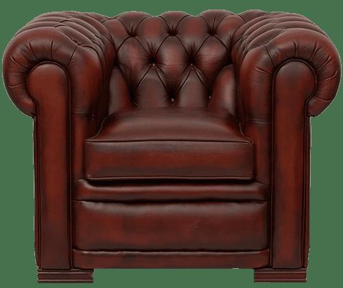 Delta-chesterfield-traditioneel-1zits-stoel-Hampshire-light-rust-vooraanzicht