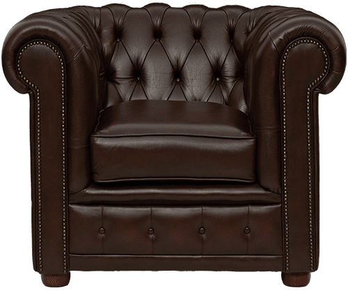 Delta-chesterfield-traditioneel-1zits-stoel-York-antique-brown-vooraanzicht