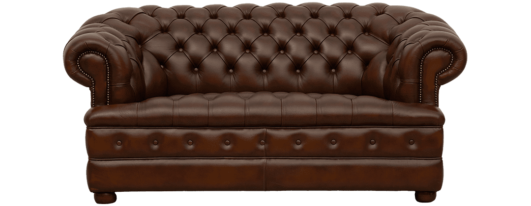 Delta-chesterfield-traditioneel-2zits-Majestic-buttoned-seat-antique-autumn-tan-vooraanzicht