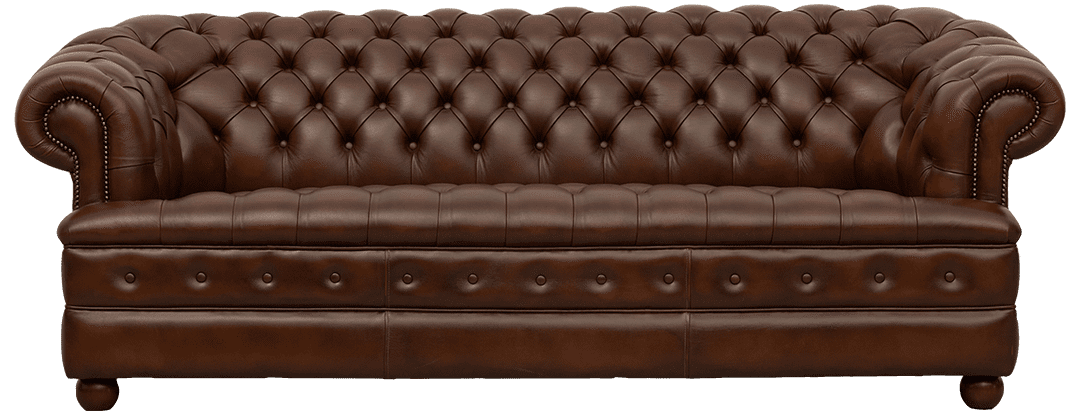 Delta-chesterfield-traditioneel-3zits-Majestic-buttoned-seat-antique-autumn-tan-vooraanzicht