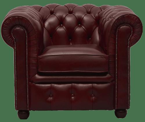 Delta-chesterfield-traditioneel-stoel-Ambassador-de-luxe-oxblood-vooraanzicht