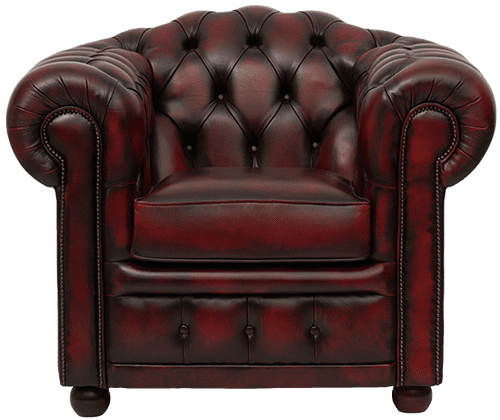 Delta-chesterfield-traditioneel-stoel-Highlander-antique-red-vooraanzicht