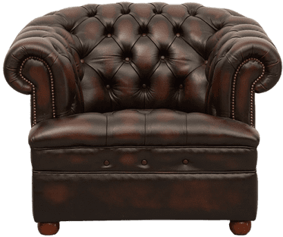 Delta-chesterfield-traditioneel-stoel-Majestic-Buttoned-seat-antique-ant-brown-vooraanzicht