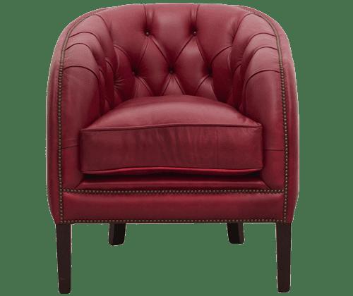 Delta-chesterfield-traditioneel-tub-mayfair-stoel-old-english-gamay-vooraanzicht