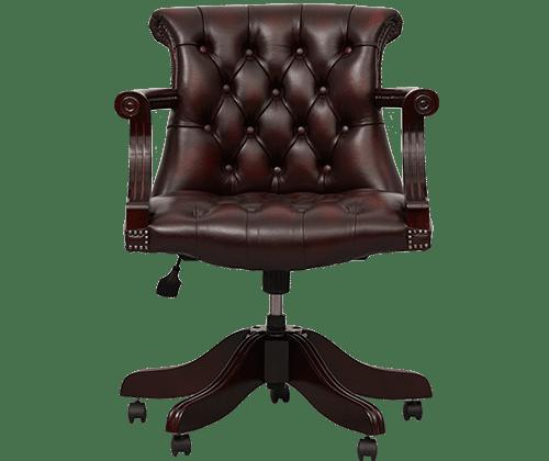 delta-chesterfield-bureaustoel-admiral-swivel-ant-red-vooraanzicht