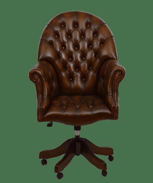 delta-chesterfield-bureaustoel-directors-swivel-ant-red-vooraanzicht