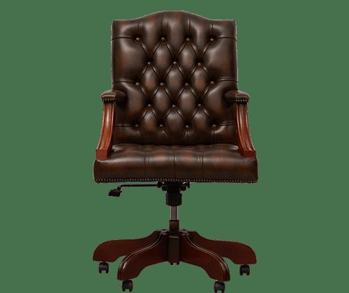 delta-chesterfield-bureaustoel-gainsborough-swivel-ant-gold-vooraanzicht
