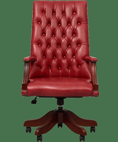 delta-chesterfield-bureaustoel-libray-swivel-crystal-camay-vooraanzicht