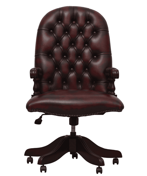 delta-chesterfield-bureaustoel-mountbatton-swivel-ant-red-vooraanzicht