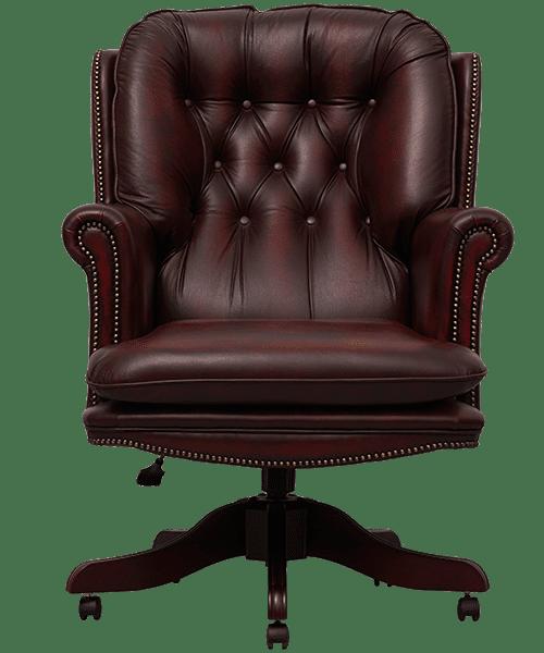 delta-chesterfield-bureaustoel-president-swivel-ant-red-vooraanzicht