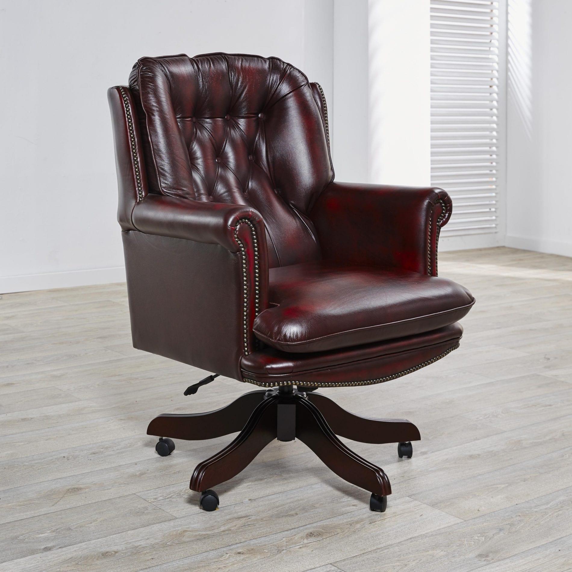 delta-chesterfield-bureaustoel-president-swivel-ant-red-zijaanzicht