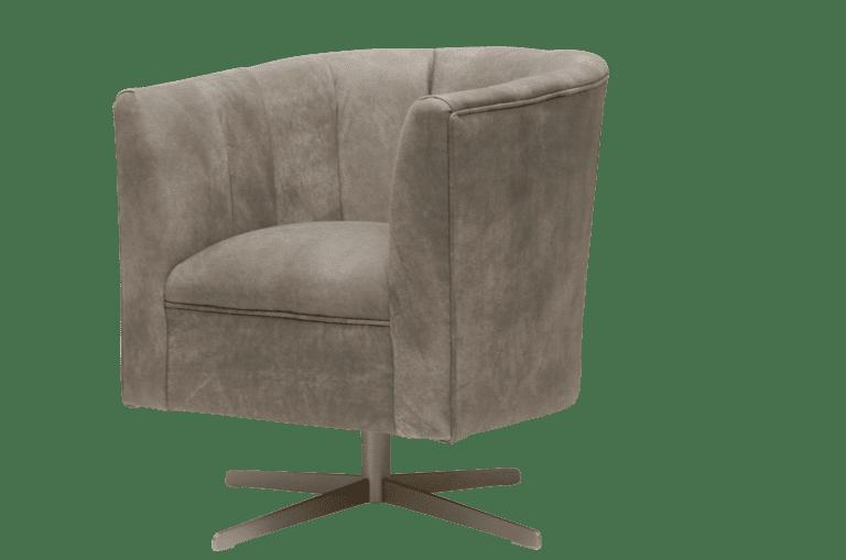 Delta-chesterfield-eigentijds-tub-chair-swivel-plain-back-trible-light-grey-zijaanzicht