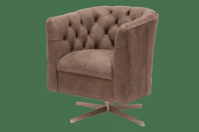 Delta-chesterfield-eigentijds-tub-chair-swivel-puttoned-back-trible-light-brown-zijaanzicht