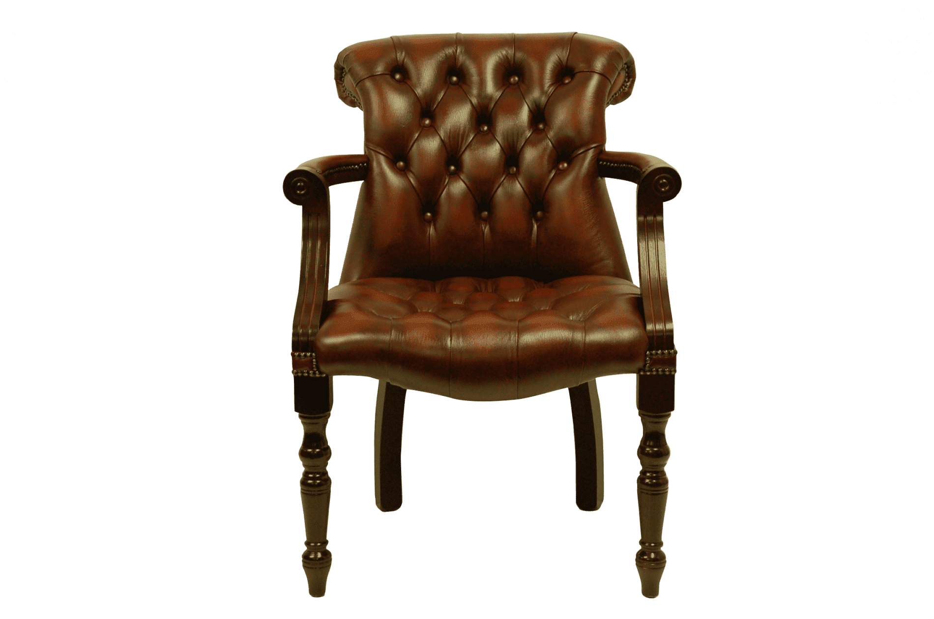 delta-chesterfield-admiral-stand-chair-light-rust-bureaustoel-vooraanzicht