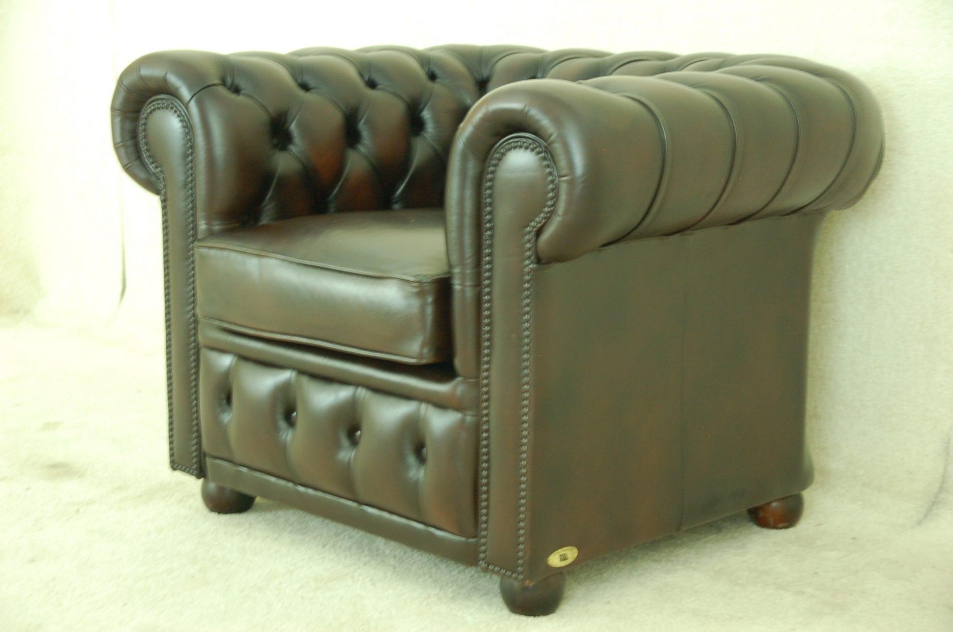 verhuurde chesterfield stoel nu te koop