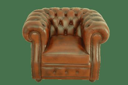 Gebruikte bijna nieuwe chesterfield stoel