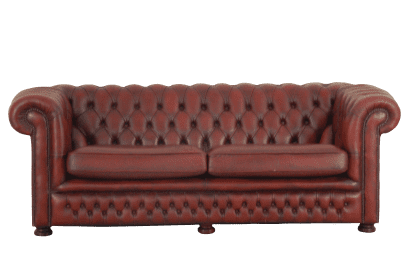 Vintage curved back chesterfield