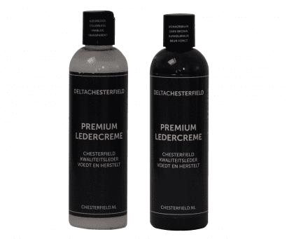 premium ledercreme kleurloos-donker bruin voordeelset