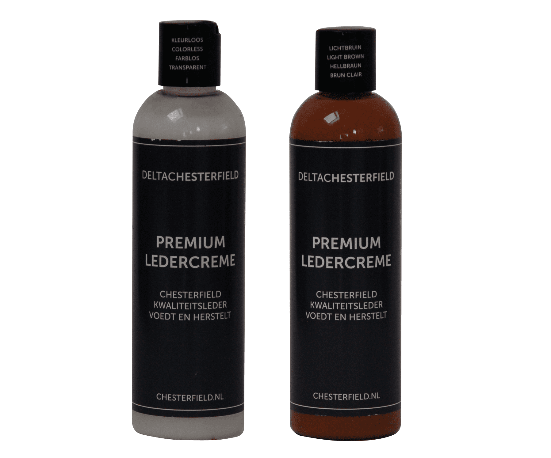 premium ledercreme kleurloos-licht bruin voordeelset