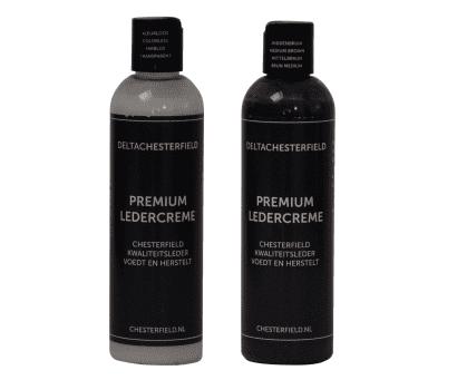 premium ledercreme kleurloos-middenbruin voordeelset
