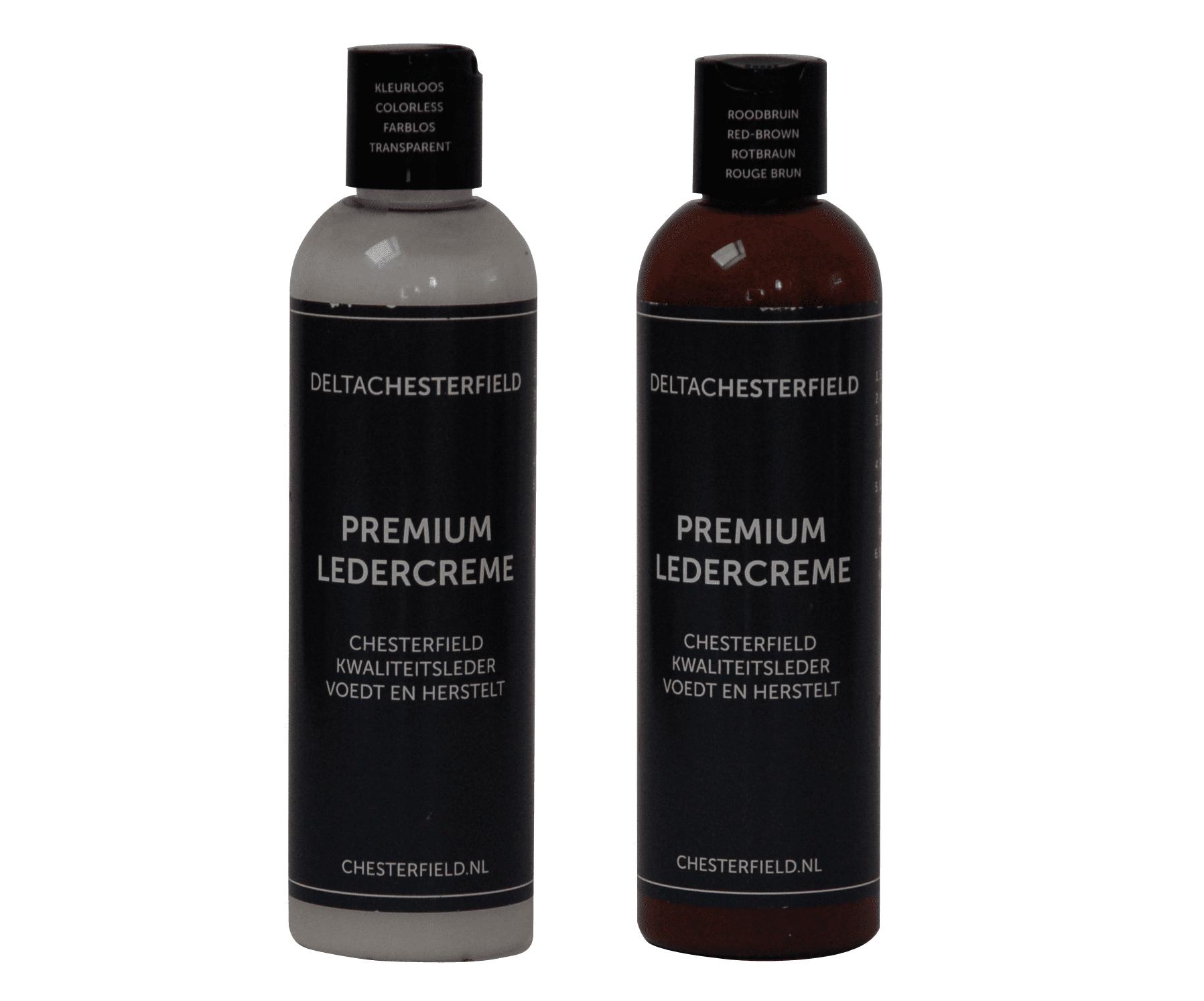 premium ledercreme kleurloos-roodbruin voordeelset