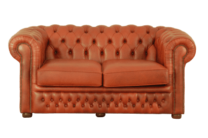 Traditionele oxblood rode chesterfield bank